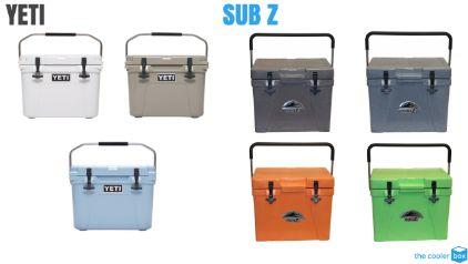 Sub Z vs Yeti Cooler Colors