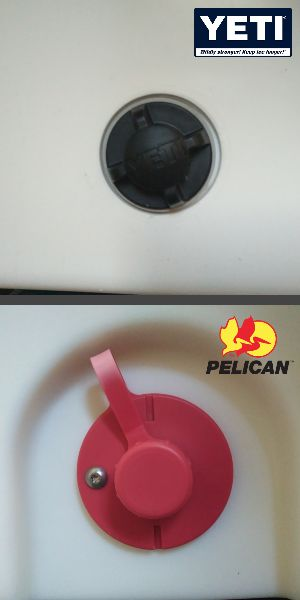 Yeti vs Pelican Drainage Plug
