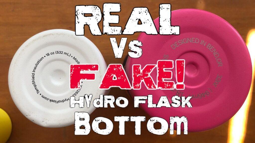 Fake Hydro Flask Bottom vs Real