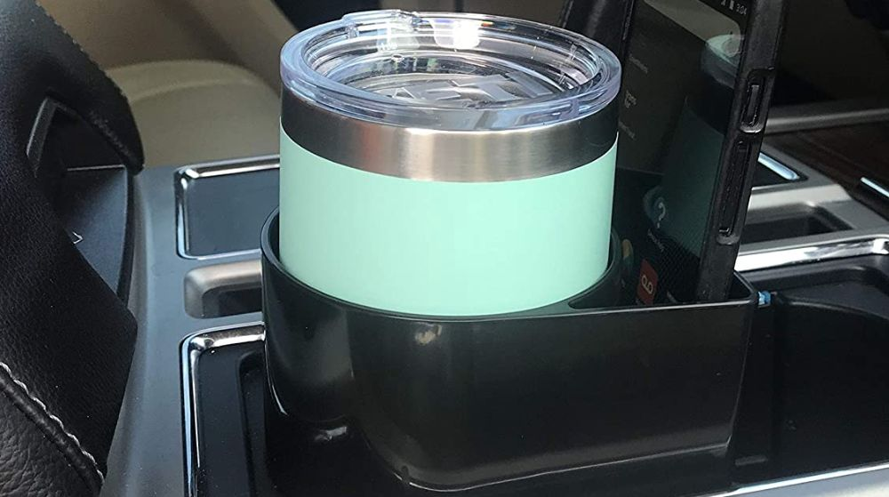 This image has an empty alt attribute; its file name is stand-bi-car-cup-holder-expander-for-yeti-cup-and-phone.jpg