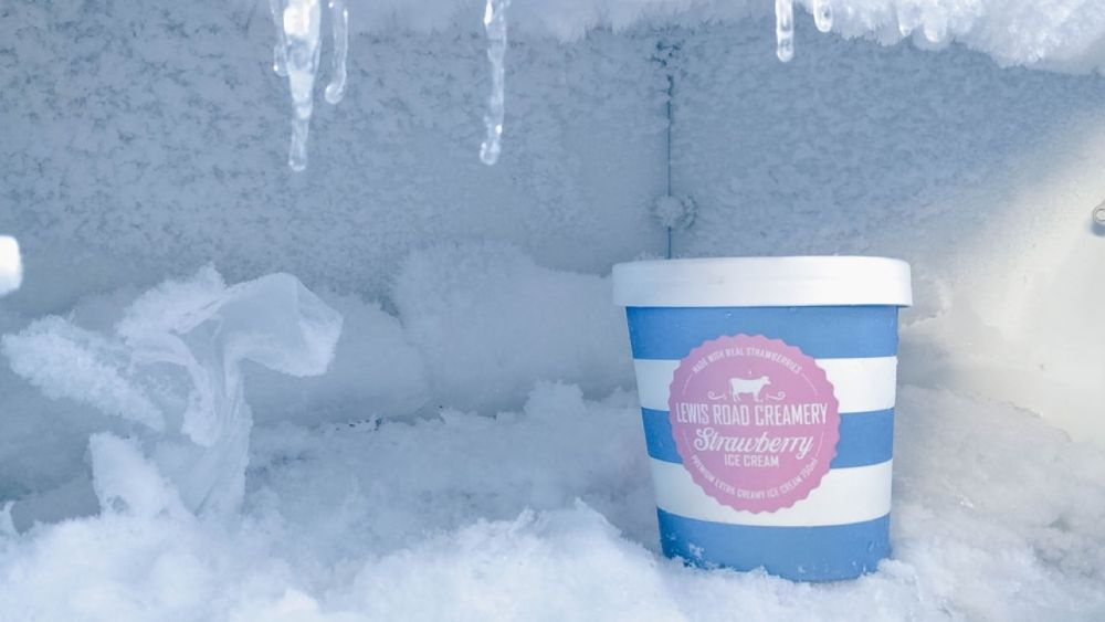 Ice Cream In Freezer