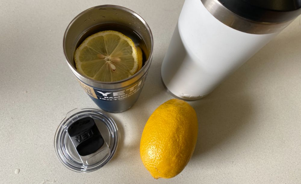 lemon-water-in-yeti-10-oz-tumbler-cup - Hunting Waterfalls