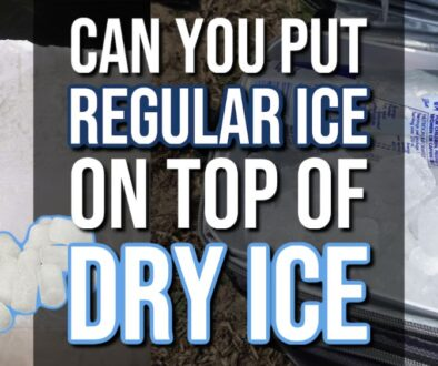 Can I Put Ice on Top of Dry Ice?