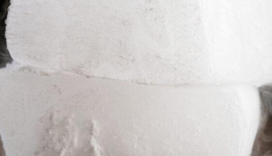 close up of dry ice